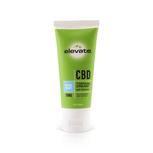 CBD Topical Cream Tube Cooling Therapy - 2 Oz by Elevate