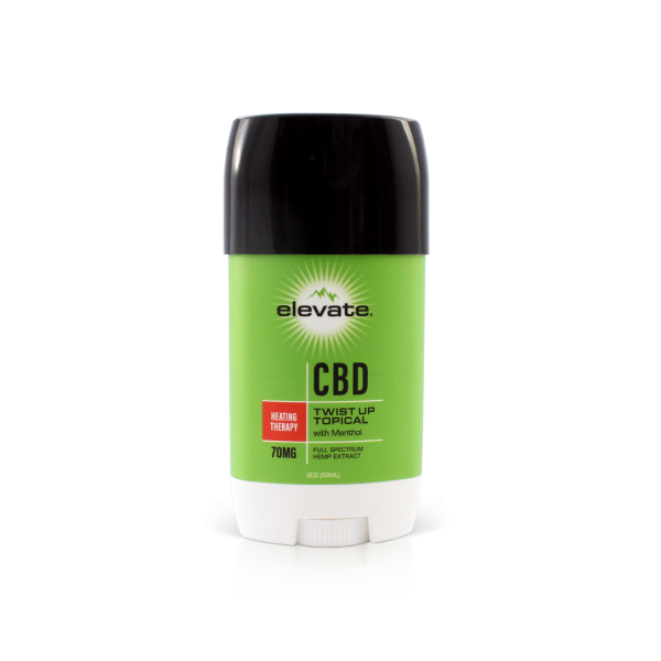 CBD Topical Cream Twist Up Heating Therapy - 2 Oz by Elevate