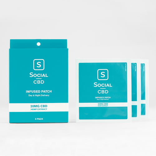 CBD Infused Patch - 20mg - 3 Pack by Social CBD