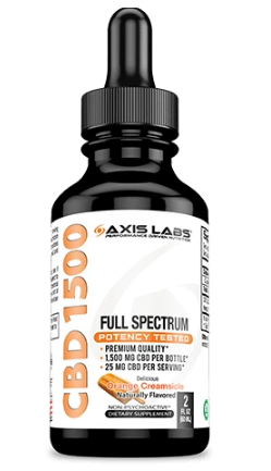 Full Spectrum CBD 1500 Oil (Orange Creamsicle) -  2 Oz by Axis Labs Inc