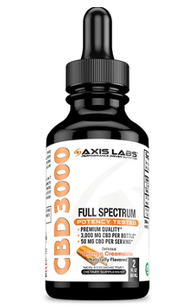 Full Spectrum CBD 3000 Oil (Orange Creamsicle) -  2 Oz by Axis Labs Inc