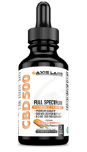 Load image into Gallery viewer, Full Spectrum CBD 500 Oil (Orange Creamsicle) -  2 Oz by Axis Labs Inc