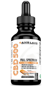 Full Spectrum CBD 500 Oil (Orange Creamsicle) -  2 Oz by Axis Labs Inc