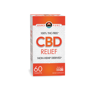 SourcePure CBD Relief - 60 Tabs by Source Naturals