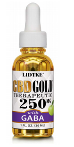 Full Spectrum CBD Gold oil with GABA 250mg -1 Oz by Lidtke