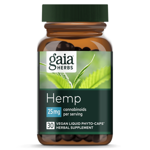 Hemp Liquid Phyto-Caps 25mg - 30 Count by Gaia Herbs