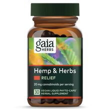 Load image into Gallery viewer, Hemp & Herbs Relief 30 Count by Gaia Herbs