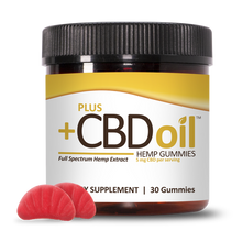 Load image into Gallery viewer, CBD Gummies Gold Formula Cherry Mango 5mg - 30 Count by Plus CBD Oil