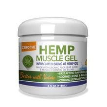 Load image into Gallery viewer, Hemp Muscle Gel 500mg - 4 Oz by Green Earth Botanicals