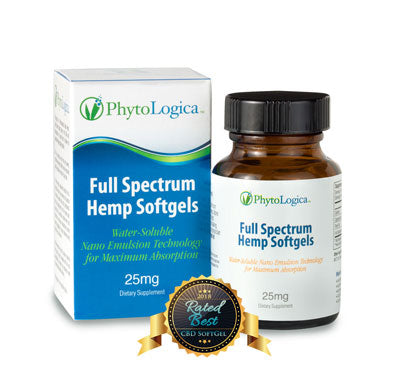 Full Spectrum Hemp Softgels 25 mg - 30 caps by Phyto Logica