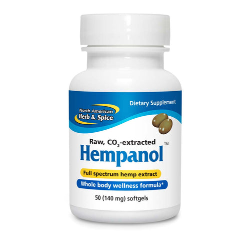 Hempanol Gelcaps - 50 Softgels by North American Herb & Spice