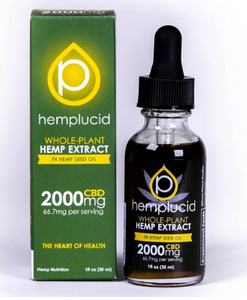 Full-Spectrum CBD in Hemp Seed Oil Tincture 2000mg - 1 Oz by Hemplucid