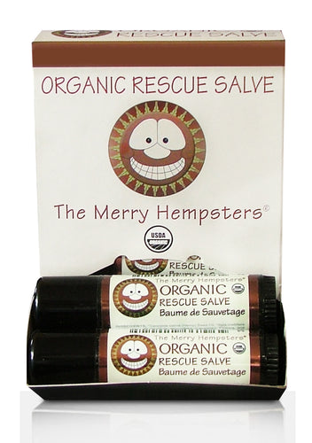 Organic Rescue Salve Tube 0.6 oz by Merry Hempsters