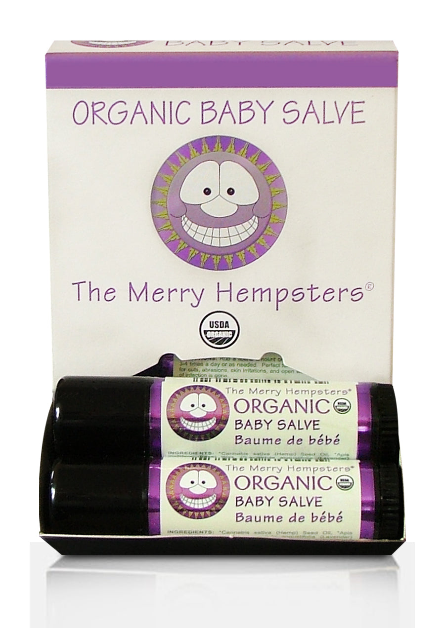 Organic Baby Salve Tube 0.6 oz by Merry Hempsters