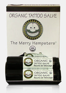Organic Tattoo Salve Tube 0.6 oz by Merry Hempsters