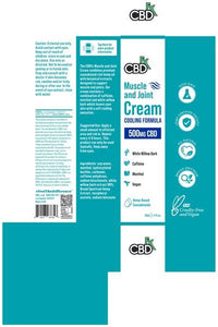 Muscle & Joint CBD Hemp Cream 500mg 50 ml - facts