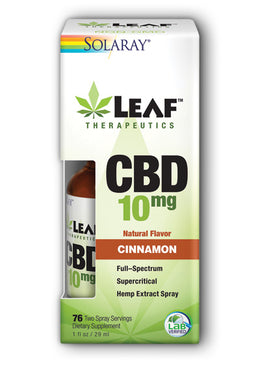 Leaf Therapeutics CBD Tincture Cinnamon Spray 10mg 1 oz