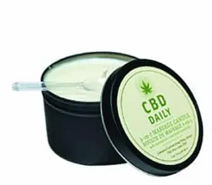 CBD Daily Massage Candle Mint Scent 6 oz