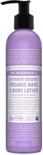 Organic Hemp Hand and Body Lotion Coconut Lavender 8 oz
