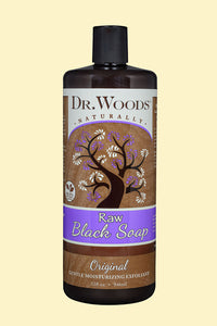 Raw Black Original Hemp Liquid Soap 32 oz