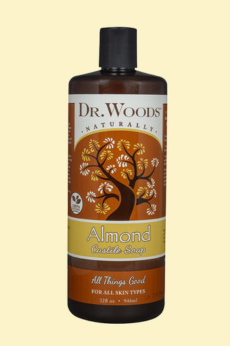 Almond Castile Soap 32 Oz by Dr.Woods Products