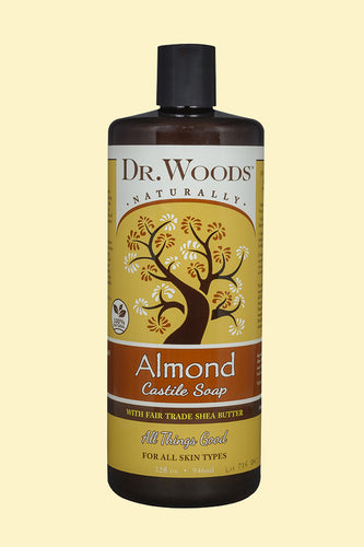 Almond Castile Hemp Soap Liquid With Shea Butter 32 oz
