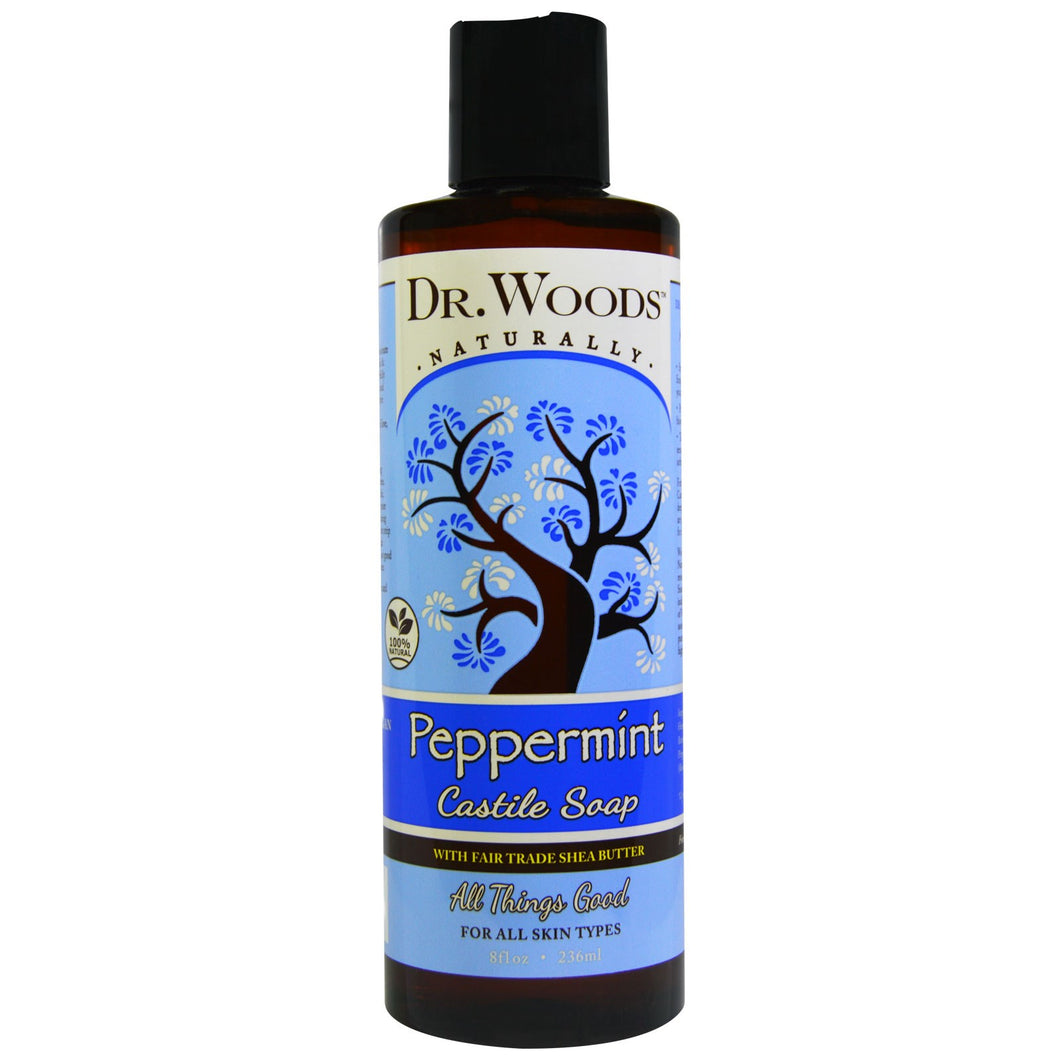 Peppermint Castile Hemp Soap Liquid With Shea Butter 8 oz