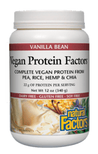 Load image into Gallery viewer, Vegan Protein Factors Vanilla Bean, 12 oz