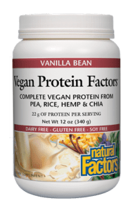 Vegan Protein Factors Vanilla Bean, 12 oz