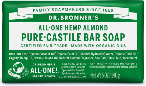 All-One Hemp Almond Pure-Castile Bar Soap 5 Oz by Dr Bronner's