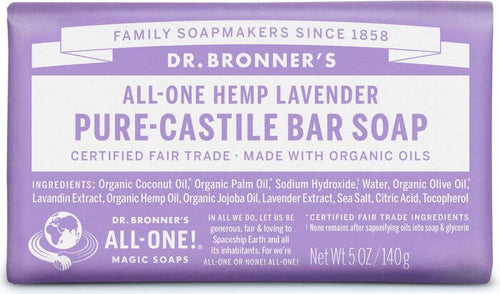 All-One Hemp Pure-Castile Soap Lavender - 5 Oz by Dr Bronner's