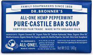 All-One Hemp Pure-Castile Soap Peppermint 5 Oz by Dr Bronner's