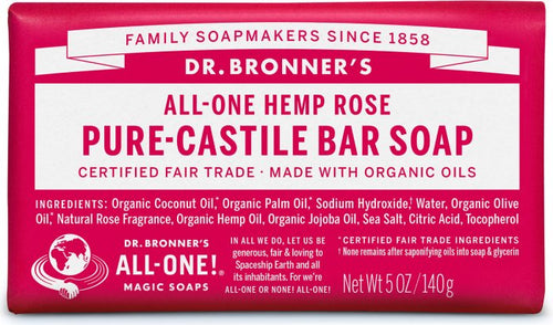 All-One Hemp Bar Soap Rose - 5 Oz by Dr Bronner's
