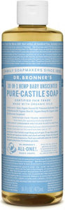 Pure Castile Liquid Soap Baby Unscented - 16 Oz by Dr Bronner's