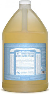 Pure-Castile Liquid Soap Baby Unscented - 128 Oz by Dr Bronner's
