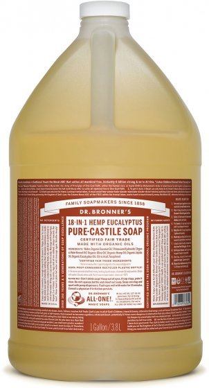 Pure-Castile Liquid Soap Eucalyptus - 128 Oz by Dr Bronner's