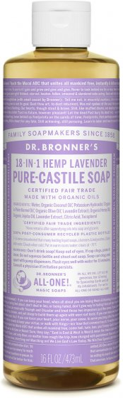 Pure Castile Liquid Soap Lavender - 16 Oz by Dr Bronner's
