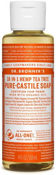 Pure-Castile Liquid Soap Tree Oil - 4 Oz by Dr Bronner's