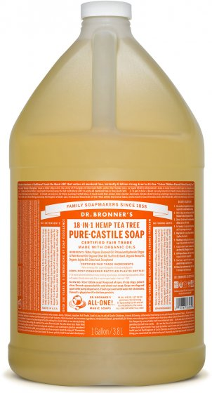 Pure-Castile Liquid Soap Tree Oil - 128 Oz by Dr Bronner's