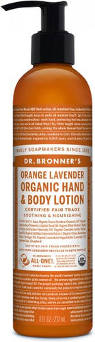 Dr.Bronner's Organic Hand and Body Lotion Orange Lavender - 8 Oz by Dr Bronner's