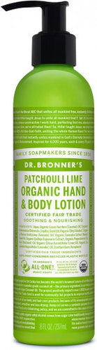 Dr.Bronner's Organic Hand and Body Lotion Patchouli Lime - 8 Oz by Dr.Bronner's