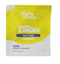 Load image into Gallery viewer, CBD Daily Dose Lemon Limon 33mg - 1 ml by Funky Farms