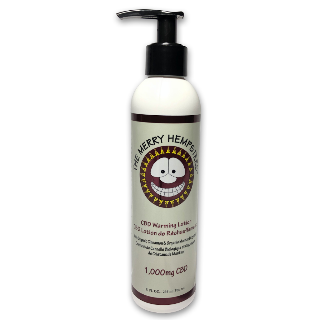 Merry Hempsters CBD Warming Lotion UnFlavor 8 Oz