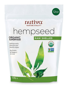 Organic Raw Shelled Hempseed - 12 Oz by Nutiva