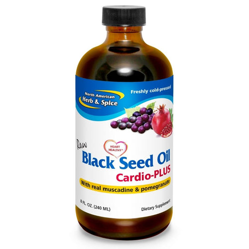 North American Herb & Spice Black Seed Oil Cardio Plus 8 Oz