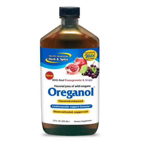 North American Herb & Spice Oreganol Pomegranate & Grape Juice 12 Oz