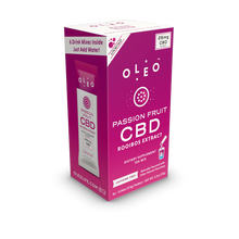 Load image into Gallery viewer, Passion Fruit CBD Drink Mix - 6 Packets by Oleo