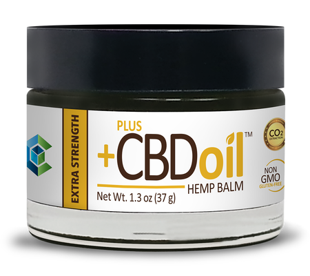 CBD Balm 100mg Gold Extra strength - 1.3 Oz by Plus CBD Oil