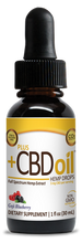 Load image into Gallery viewer, CBD Drops Gold Formula Goji Blueberry 250mg - 1oz by Plus CBD Oil
