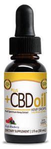 CBD Drops Gold Formula Goji Blueberry 250mg - 1oz by Plus CBD Oil